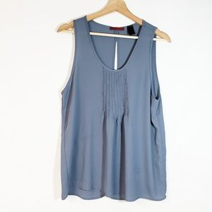 BKE red. Pleated Front Blue Sleeveless camisole